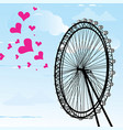 i love you london poster design and hearts vector image