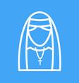 lady in nun dress vector image