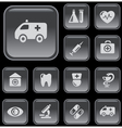 Medical buttons vector image vector image