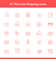 Set of Thin Line Stroke Shopping Icons vector image vector image