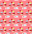 milk cartons seamless pattern vector image