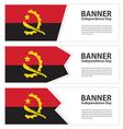 Angola banner vector image