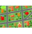 map of village vector image
