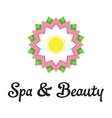 Spa health relaxation care of a logo Lotus flower vector image