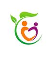 eco people love vegetarian logo vector image