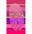 fingertip on striped backdrop vector image