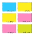 Hand Drawn Frame Set Thank You With Love Hello For vector image