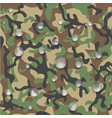 icon of waterproof camouflage fabric vector image