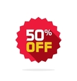 Sale sticker 50 percent off label tag badge vector image