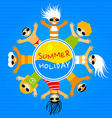 summer camp template vector image