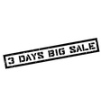 3 days big sale rubber stamp vector image
