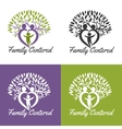 family centered vector image