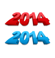 3D 2014 Year vector image