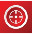 Target icon on red vector image