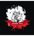 White tiger in a frame vector image