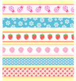 seamless banners vector image
