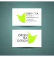 Green Tea logo template Business card desing vector image