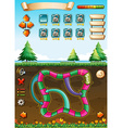 Game template with view underground vector image vector image
