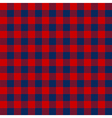 Blue red check textile seamless pattern vector image