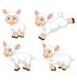 Cute cartoon sheep collection set isolated vector image