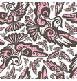 fairy bird seamless repeat pattern vector image