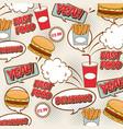 fast food pop art vector image