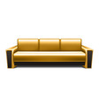 gold leather sofa vector image