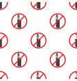 no vaping sign seamless pattern vape prohibited vector image
