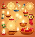realistic diwali set vector image