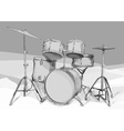 drums kit vector image