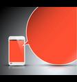 mobile communication technology - concept vector image