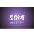 Happy new year 2014 text design vector image