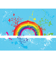 rainbow grunge vector image vector image