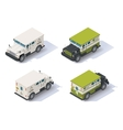 isometric armored truck vector image vector image