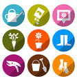 Gardening Icons - Tools Set vector image vector image
