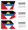 antigua and barbuda banner vector image