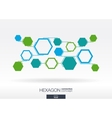 Abstract hexagon background with integrated vector image
