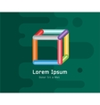 Abstract colored 3d box icon Isolated on vector image
