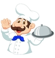 Chef cartoon with ok sign vector image