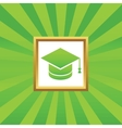 Graduation picture icon vector image