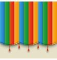 Theatre color carnival curtain vector image