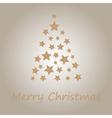 Christmas tree made of stars vector image vector image