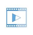 strip film play cinema movie symbol vector image