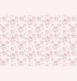 cute pink rabbit cartoon pattern vector image