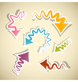 Twisted Warped Retro paper Arrows Isolated on vector image vector image