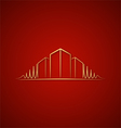 Architect logo over red vector image vector image