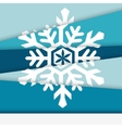 Creative New year card Asymmetric snowflake formed vector image vector image