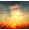 Abstract sunrise circle technology vector image
