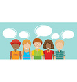 Faceless people with talking bubbles vector image