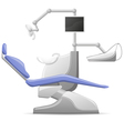 medical dental arm-chair vector image vector image